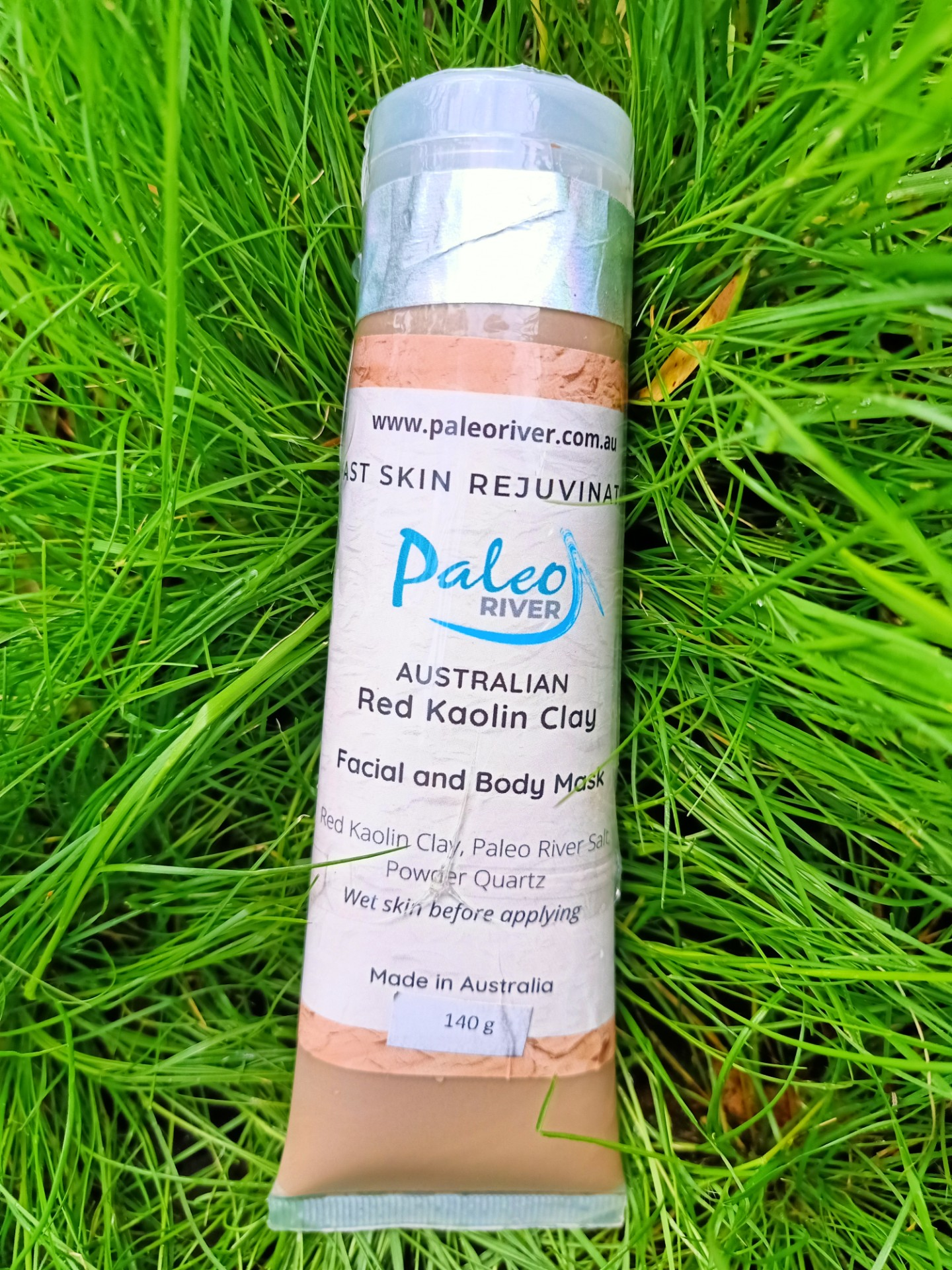 Red Ochre Kaolin Clay – With Eucalyptus Essential Oil – Face & Body Mask – 140g Tube