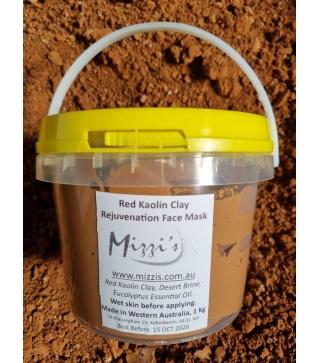 Red Kaolin Clay Rejuvenation Face Mask – 1Kg Tub