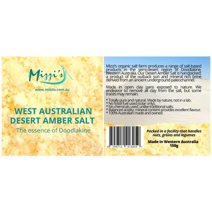 West Australian Desert Amber Salt 150g