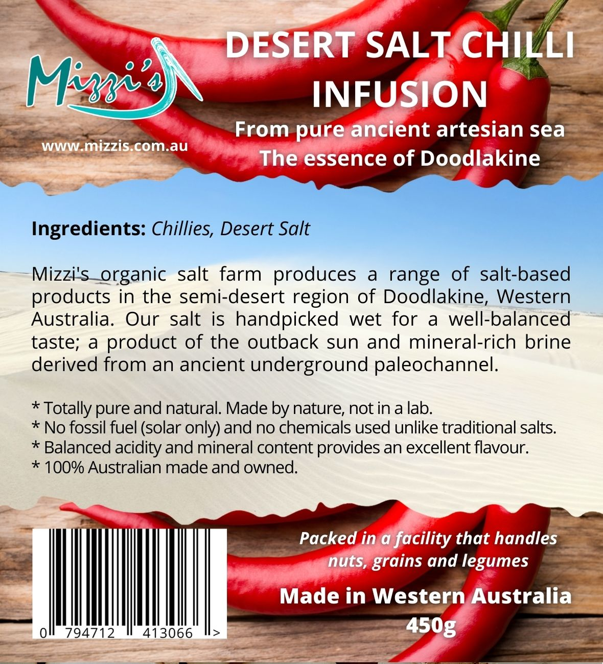 Chilli Desert Salt Infusion – 450g