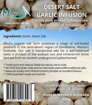 Garlic Desert Salt Infusion – 450g